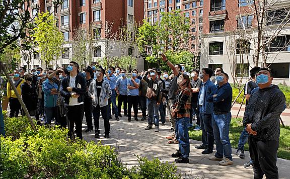 海河教育园区城市建设和管理局组织建筑外立面施工工艺观摩活动