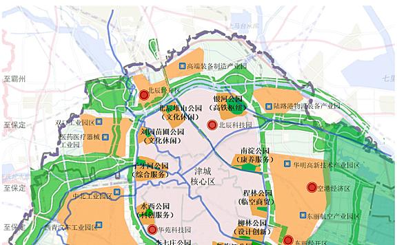天津外环线周边地区产城融合规划图