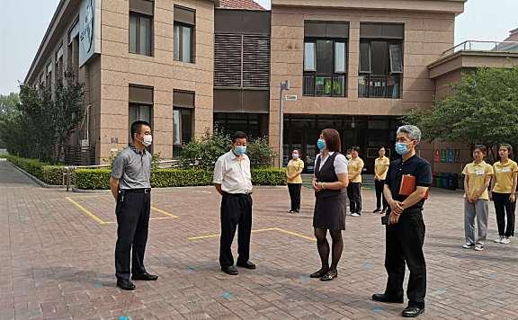海教园管委会领导调研幼儿园复课开园准备情况和南开学校智文路校区建设情况