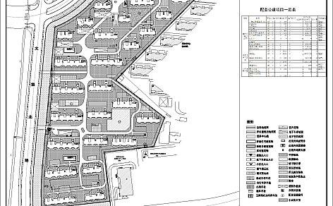 文心新苑(大门、围墙)建筑设计方案总平面图公示
