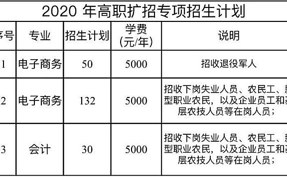 天津中德应用技术大学2020年高职扩招项目招生工作通知