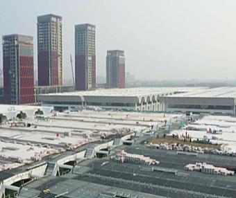 国家会展中心(天津)二期项目加紧建设 计划2022年底交付使用
