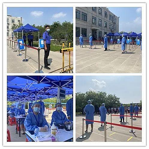 """津南区海棠街完成""""七小""""行业工作人员及家属核酸检测筛查工作"""